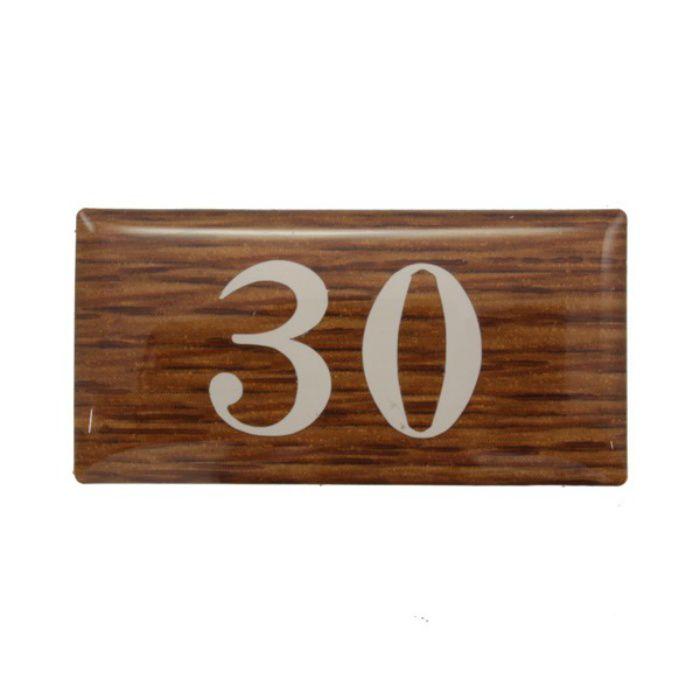BJ24-30 クリスタルサイン テーブルナンバー オーク