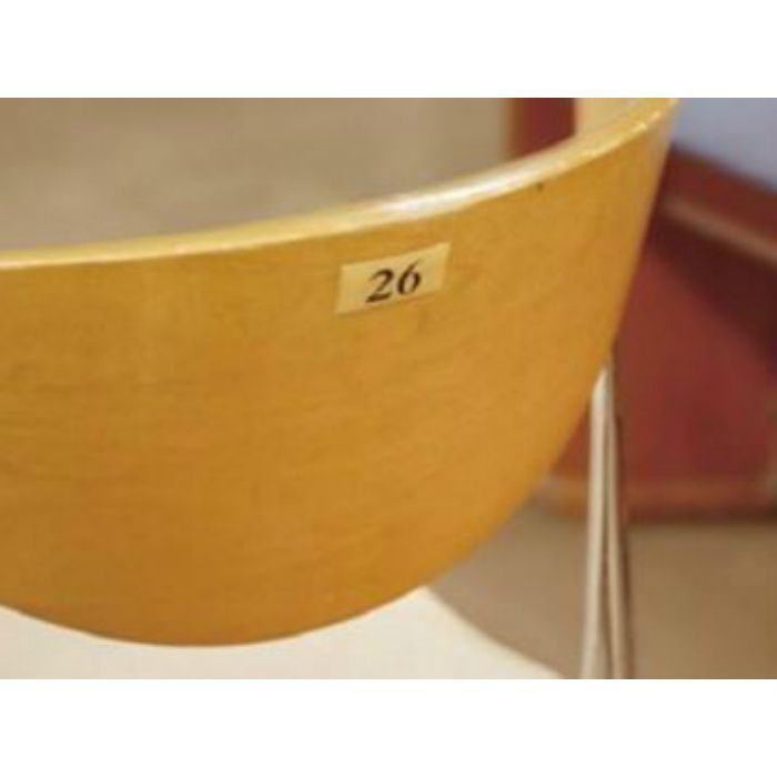 BJ25-4 クリスタルサイン テーブルナンバー チーク