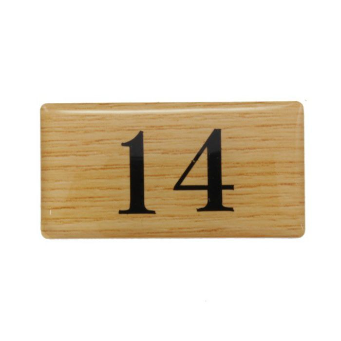 BJ25-14 クリスタルサイン テーブルナンバー チーク