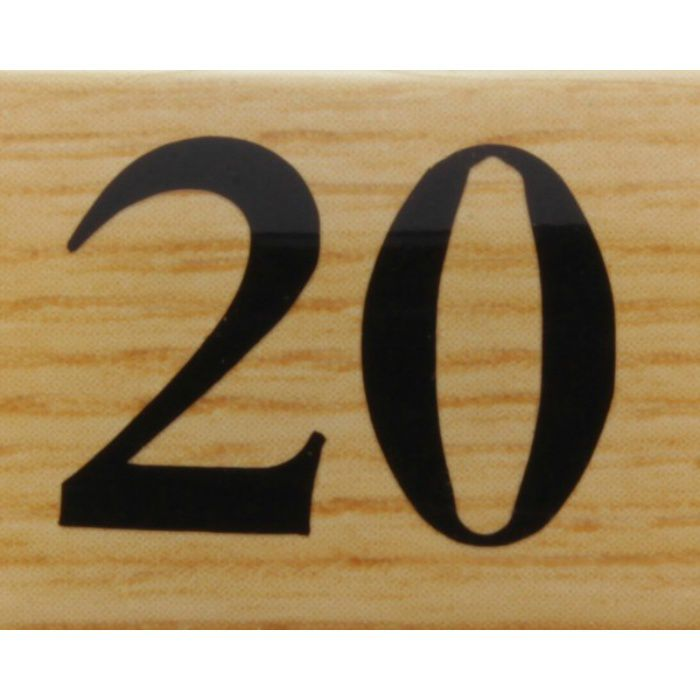 BJ25-20 クリスタルサイン テーブルナンバー チーク