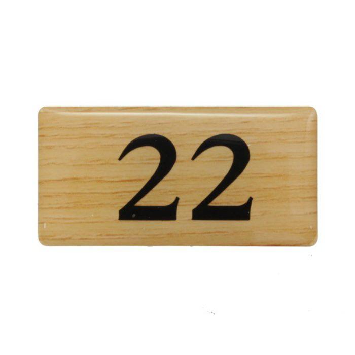 BJ25-22 クリスタルサイン テーブルナンバー チーク