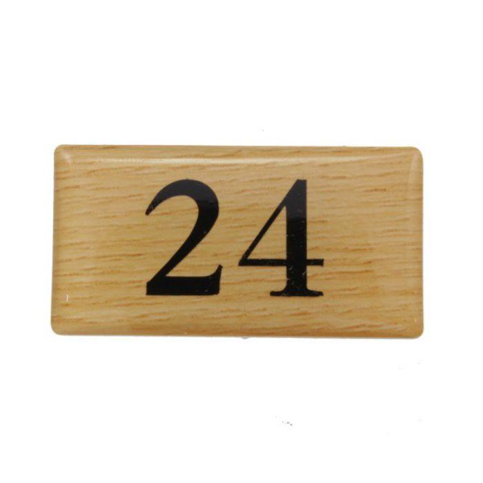 BJ25-24 クリスタルサイン テーブルナンバー チーク