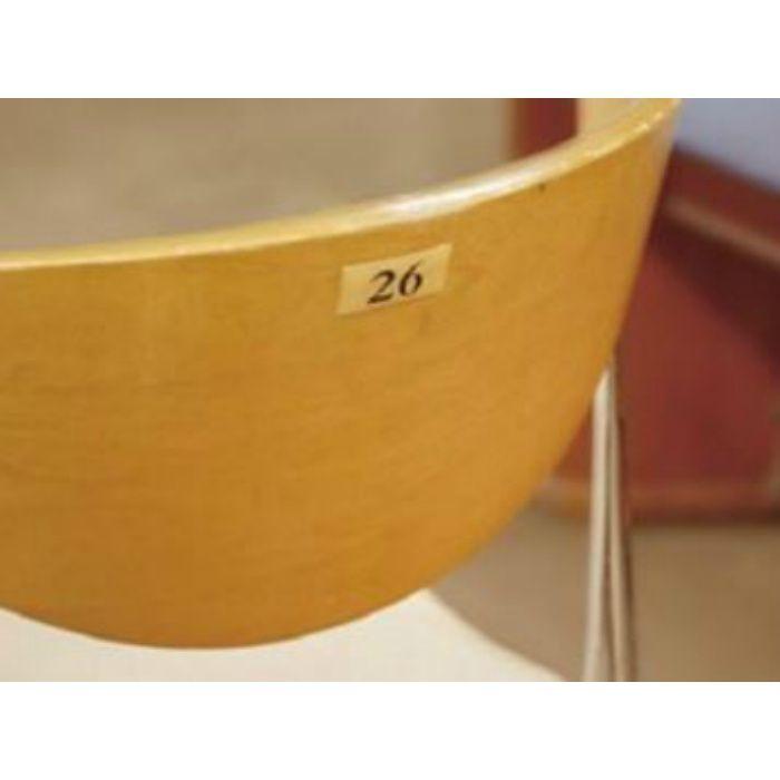 BJ25-25 クリスタルサイン テーブルナンバー チーク