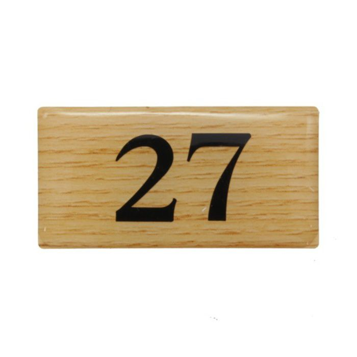 BJ25-27 クリスタルサイン テーブルナンバー チーク