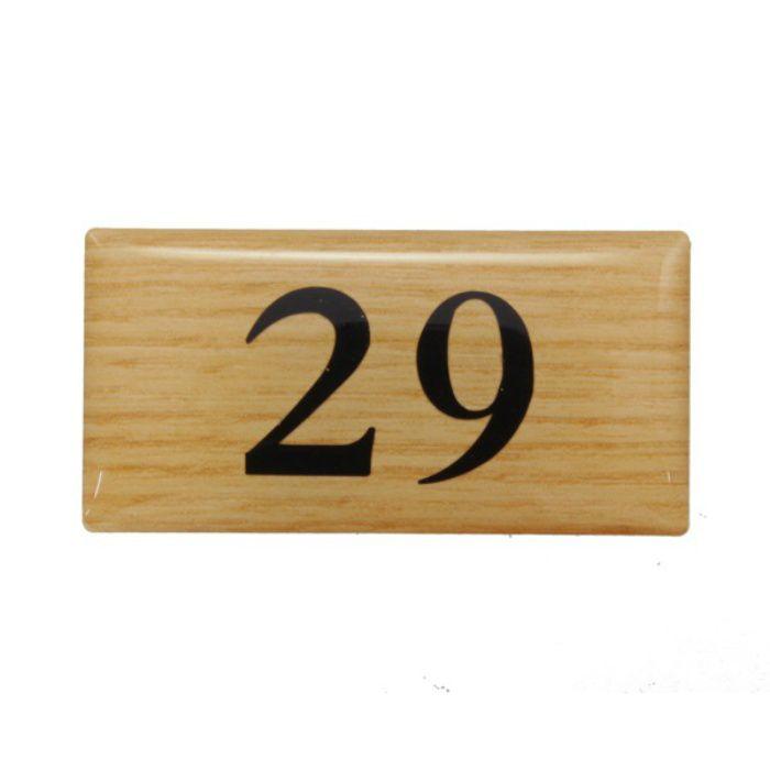 BJ25-29 クリスタルサイン テーブルナンバー チーク