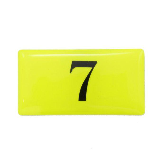BJ26-7 クリスタルサイン テーブルナンバー 蛍光