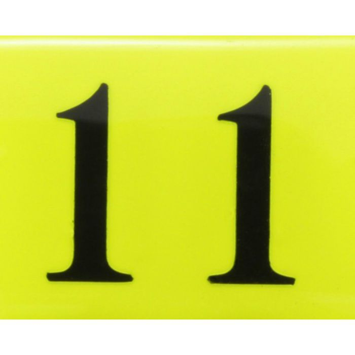 BJ26-11 クリスタルサイン テーブルナンバー 蛍光