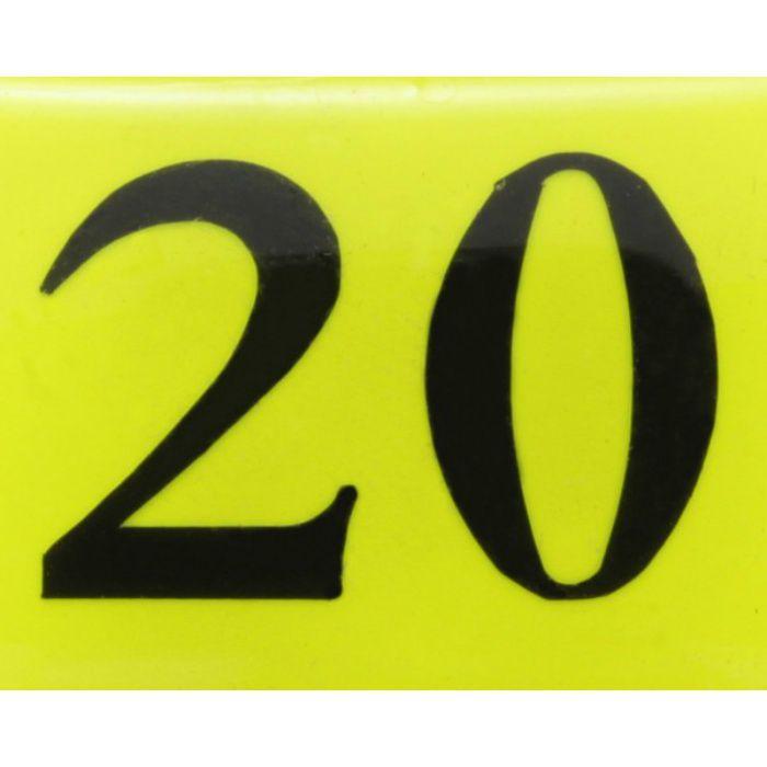 BJ26-20 クリスタルサイン テーブルナンバー 蛍光