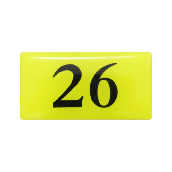 BJ26-26 クリスタルサイン テーブルナンバー 蛍光