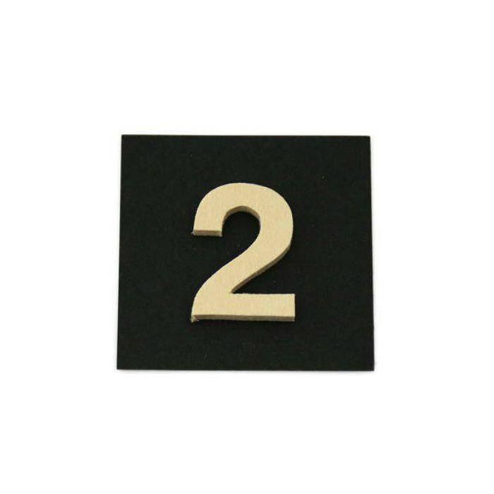 PSB25-2 木製文字 天地25mm