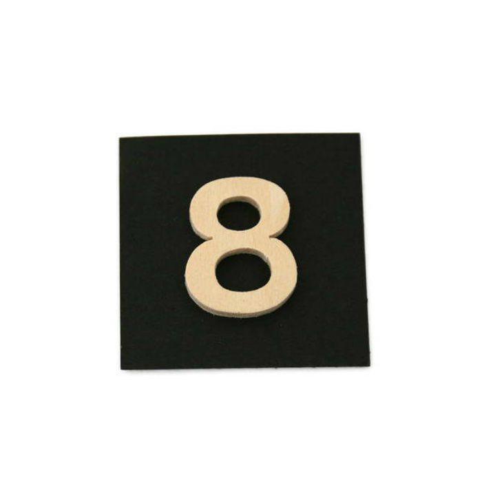 PSB25-8 木製文字 天地25mm