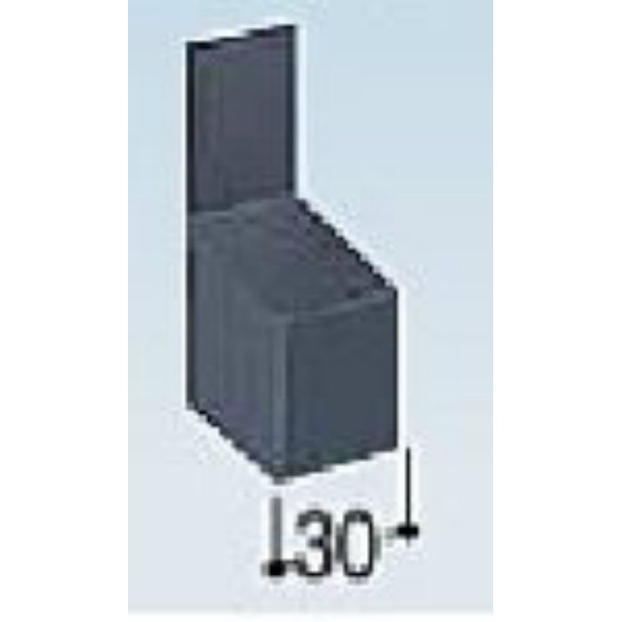 KM35EL カラー鋼板水切エンドキャップ ライトシルバー
