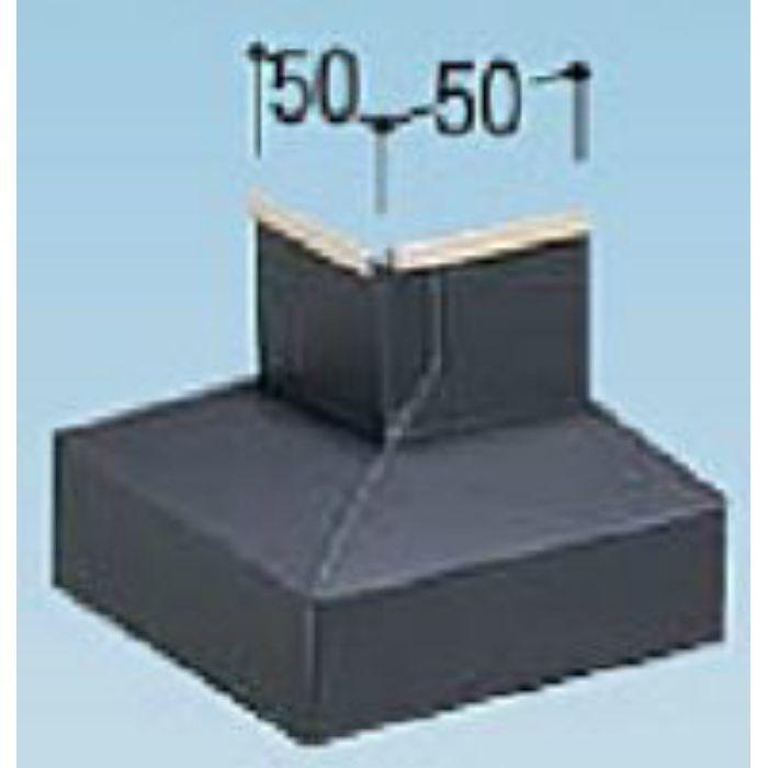 KM50DL カラー鋼板水切50出隅 ライトシルバー
