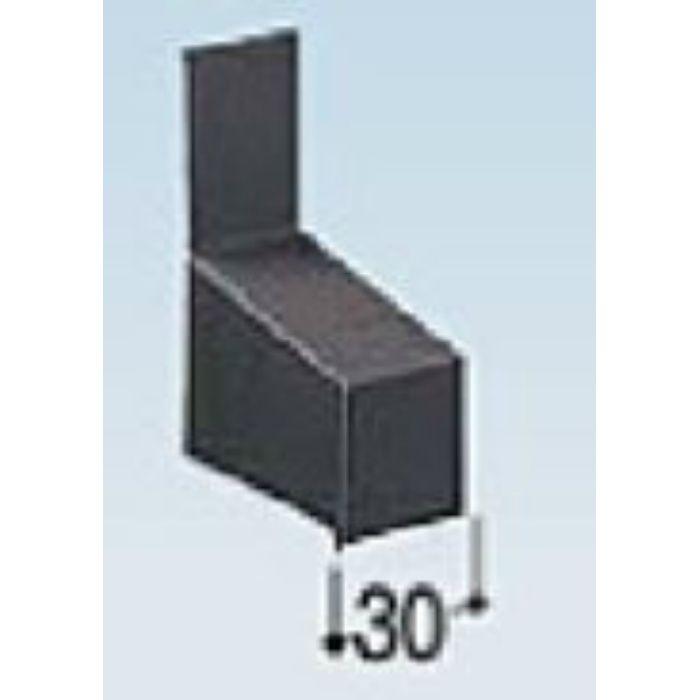 KM50EL カラー鋼板水切50エンドキャップ ライトシルバー
