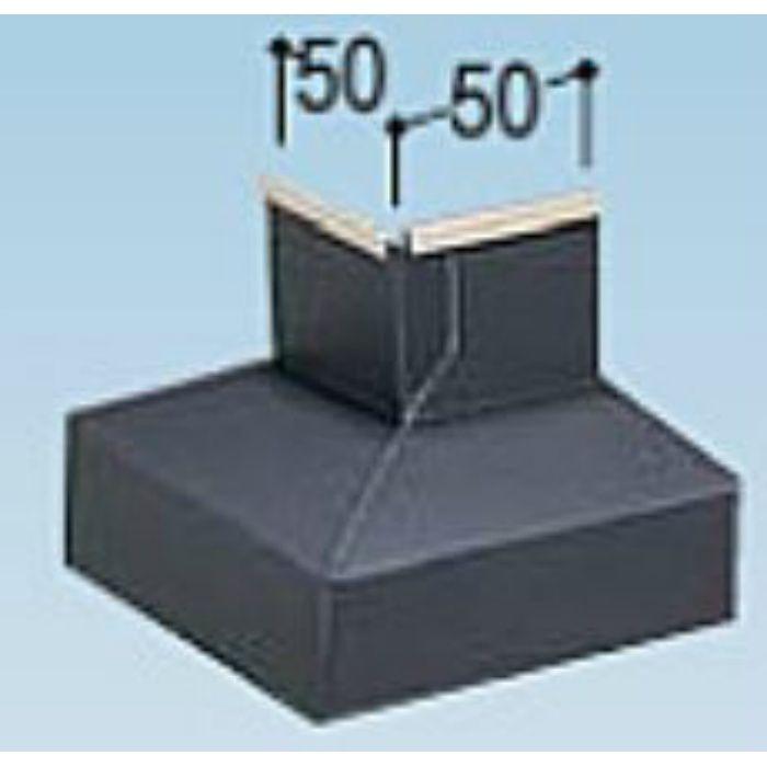 KMB50DL カラー鋼板水切防鼠付50出隅 ライトシルバー