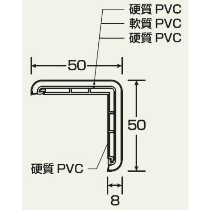 KDM5WB カドマモール50 50X50X3000mm ウッドブラウン【壁・床スーパーセール】