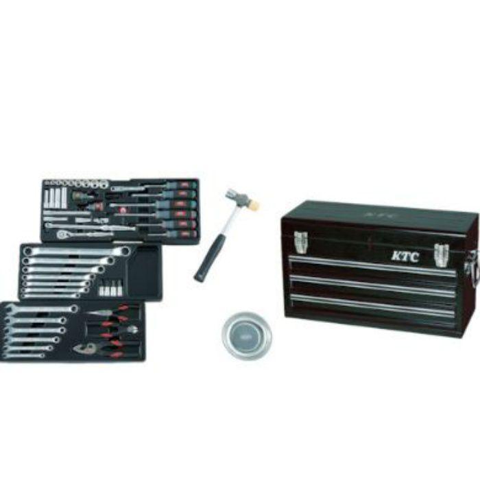 SK3650XBK KTC 工具セット チェストケース (差込角9.5mm) 66点セット