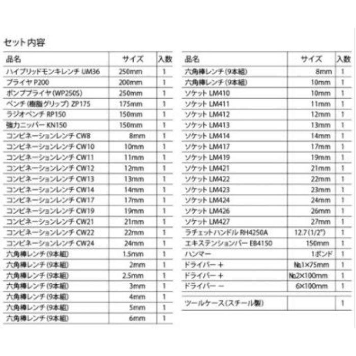 EBI-2005 エビ印 工具セット エビちゃん (差込角12.7mm) 45点セット
