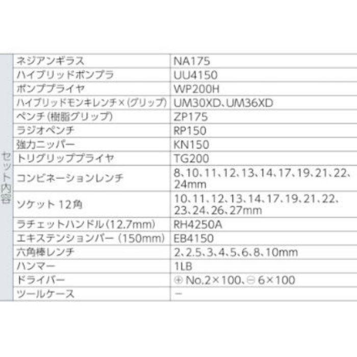 EBI-2010B エビ印 工具セット エビちゃん (差込角12.7mm) 47点セット