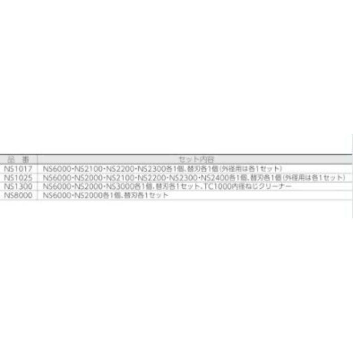 NS1025 ノガ ねじ山修正工具セット