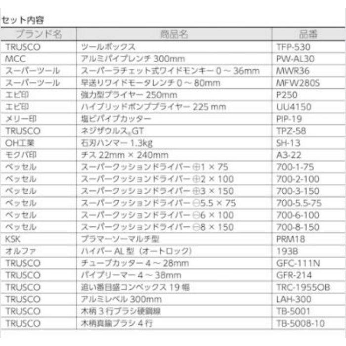PK-H1 TRUSCO ピカイチ プロ用配管工具セット 24点セット