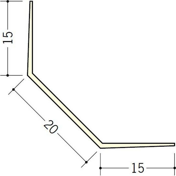 ペンキ・クロス下地材 出隅 ビニール 面取ボードコーナー20 ミルキー 2.5m  01043-1