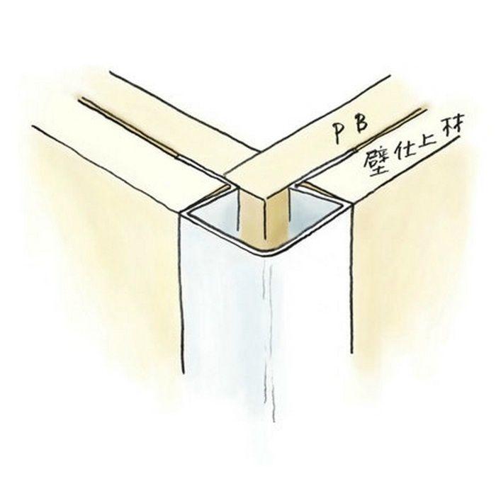ペンキ・クロス下地材 出隅 ビニール イカ3R-12.5mm ホワイト 2.73m  37108