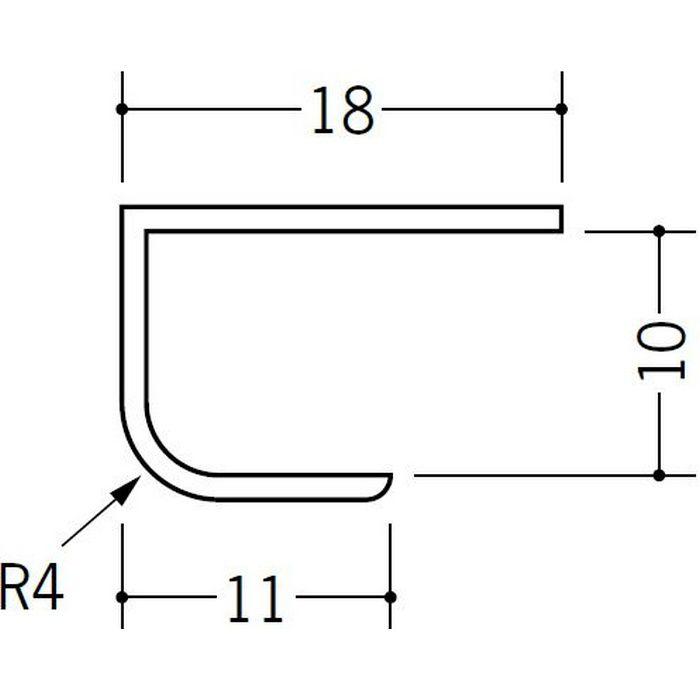 ペンキ・クロス下地材 出隅 ビニール 丸面コ型コーナー9 ホワイト 2.5m  01028