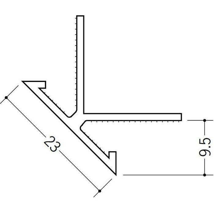 ペンキ・クロス下地材 出隅 ビニール 23面取コーナー  9mm用 ホワイト 2.5m  01060