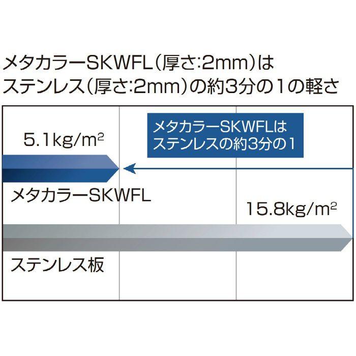 メタカラーSKWFL【不燃】面材 (厚2mmタイプ) SKWFL-3×6 ♯800鏡面