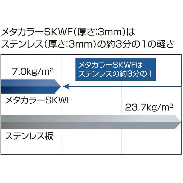 メタカラーSKWF【不燃】面材 SKWF-3×6 ヘアーライン
