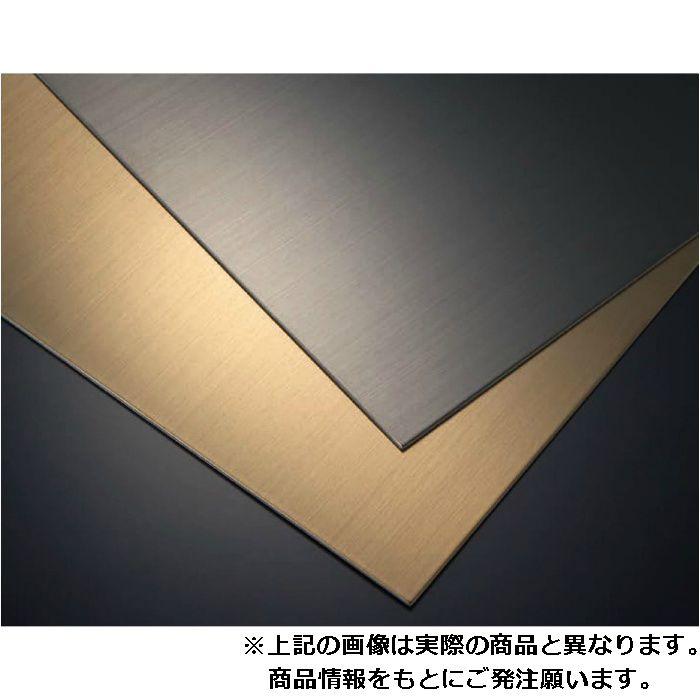 【ロット品】 ハイブリッド面材 SKWR-3×6 発色タイプ(リアル) ゴールドヘアーライン 3枚/ケース