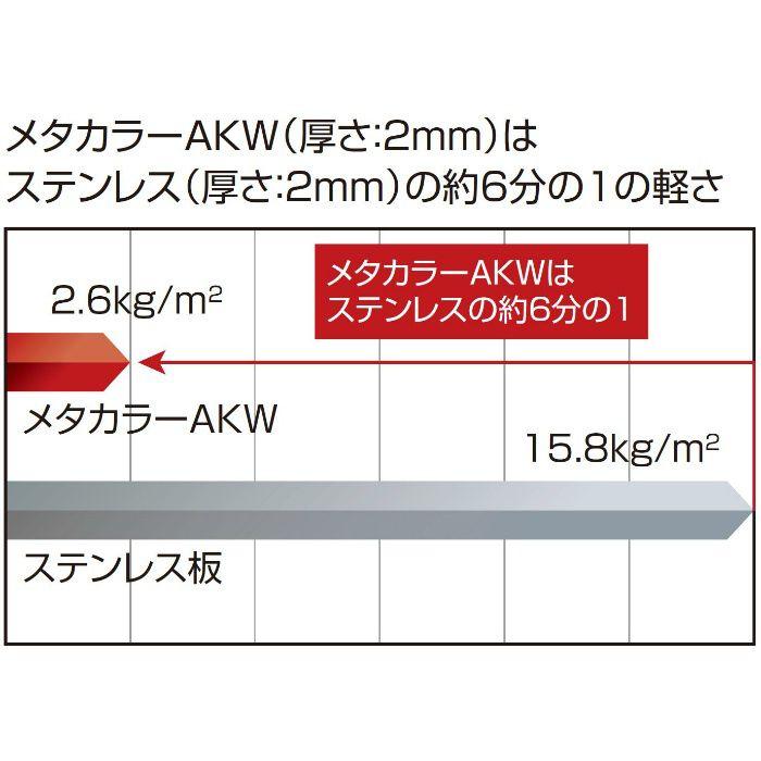 メタカラーAKW【不燃】面材 AKW-3×10 クリアーヘアーライン