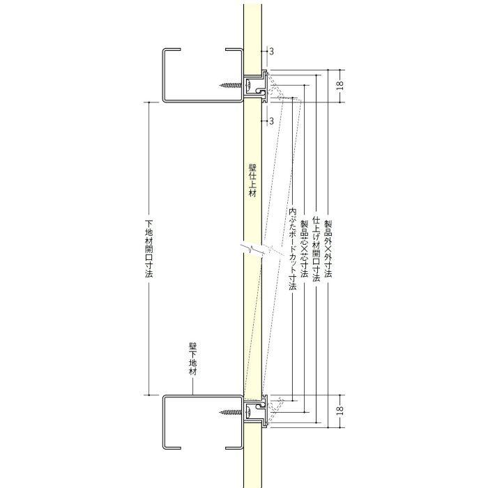 WH250-15 ホワイト ビニール 壁用点検口枠 15mm用 62305
