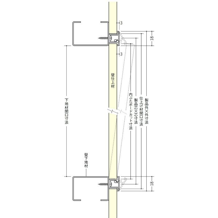 WH300-15 ホワイト ビニール 壁用点検口枠 15mm用 62306