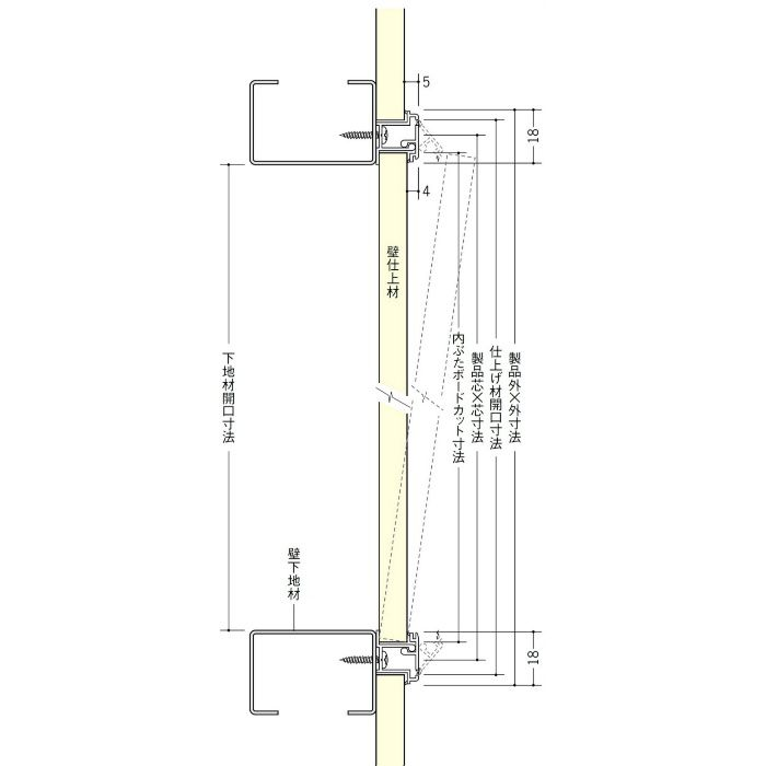 WS450-12 ホワイト ビニール 壁用点検口枠 12.5mm用 62325