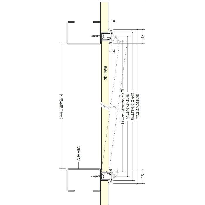 WS450-15 ホワイト ビニール 壁用点検口枠 15mm用 62331