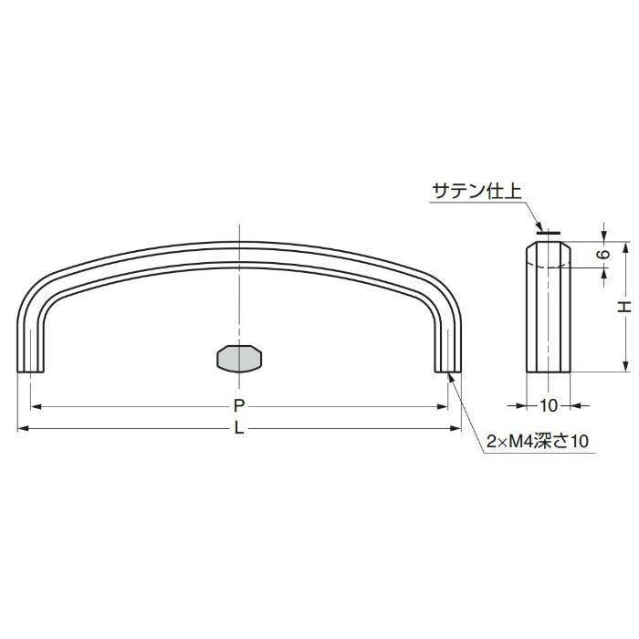 ランプ印ステンレス鋼(SUS316)製ハンドルXL-JSR型 XL-JSR70TT 100-012-796