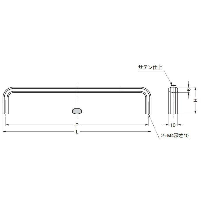 ランプ印ステンレス鋼(SUS316)製ハンドルXL-JS型 XL-JS165TT 100-012-792