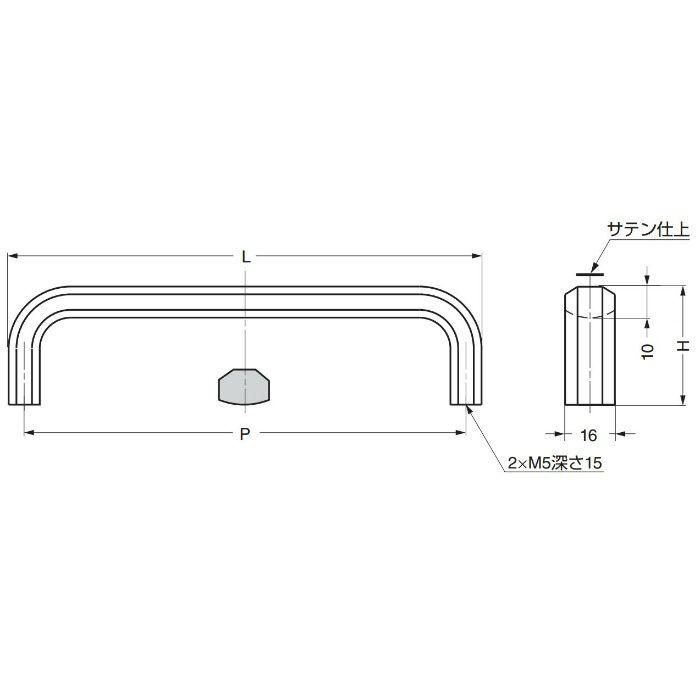 ランプ印ステンレス鋼製ハンドルXL-CU型 XL-CU80TT 100-010-470