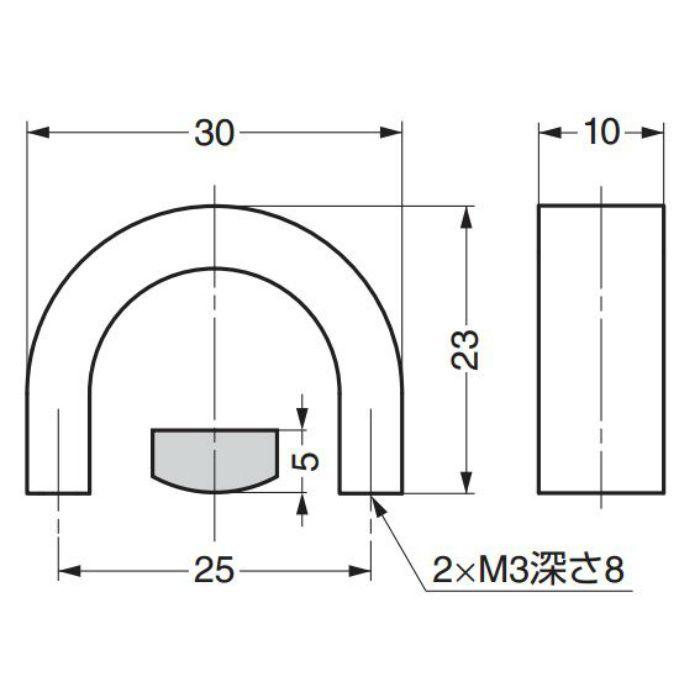 ランプ印ステンレス鋼製ハンドルKB型 KB-30M 100-011-093