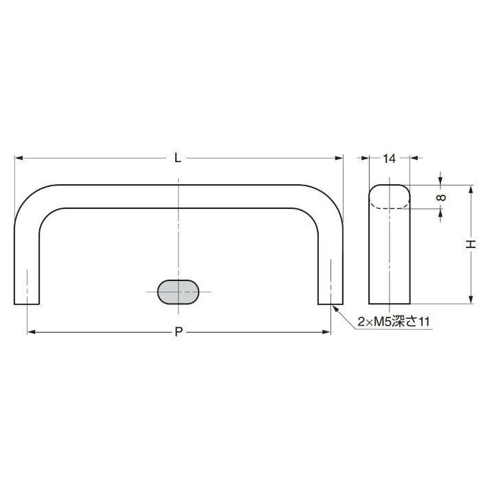 ランプ印ステンレス鋼製ハンドルECH型 ECH-125M 100-017-243
