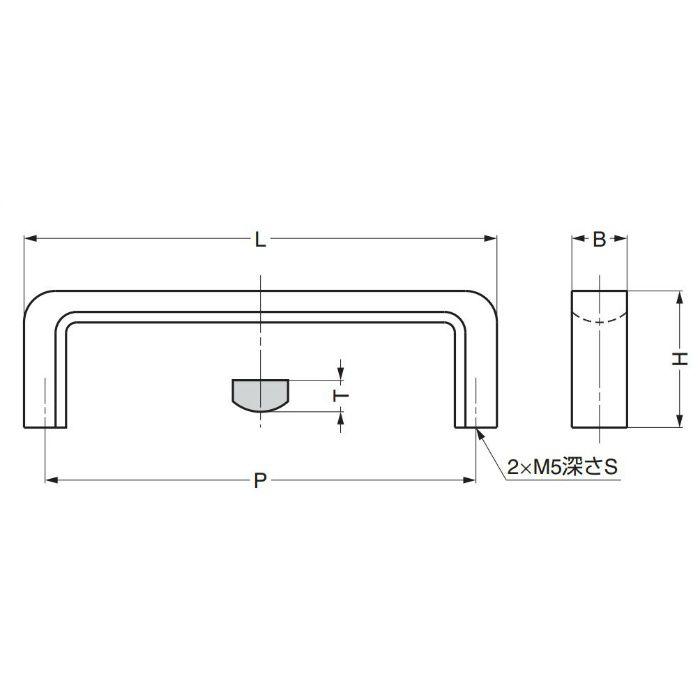 ランプ印ステンレス鋼製フィニッシュハンドルFB型 FB-110 100-010-075