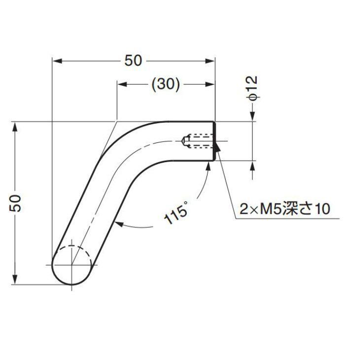 ランプ印ステンレス鋼製ハンドルLF-12型 LF-12-96 100-010-520