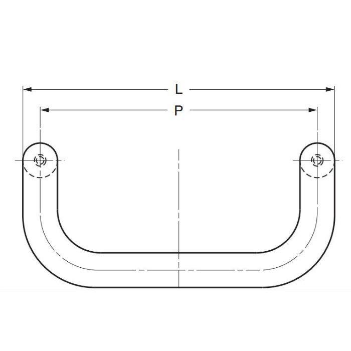 ランプ印ステンレス鋼製ハンドルLF-12型 LF-12-160 100-010-522