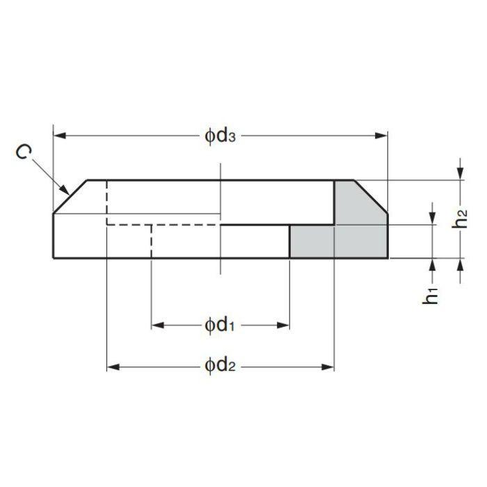 ステンレス鋼製ハンドル用座金H42-Z型(H-42-B型、H-42-C型用) H-42-Z-12 1袋 100-010-574