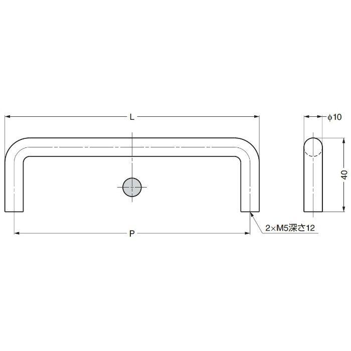 dlineステンレス鋼(SUS316)製ハンドル14-3812型 14-3812-02-136 100-017-637
