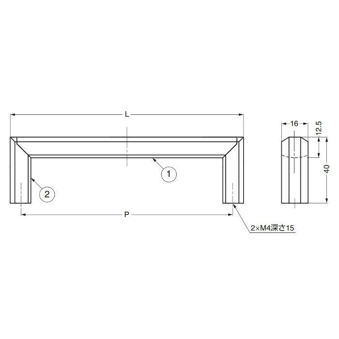 ランプ印ハンドルXLA-HA型 XLA-HA256 100-010-062