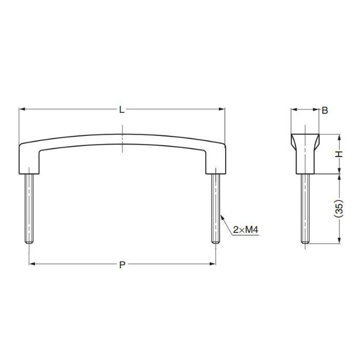 ランプ印アトラス型取手ATO型 ATO-A207 100-010-929