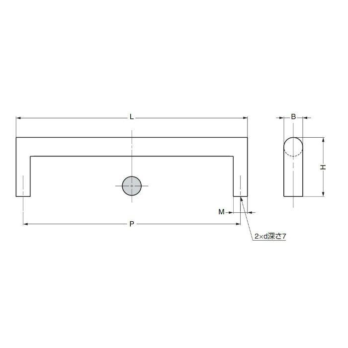ランプ印角足取手KAKU型 KAKU-A160 100-010-922